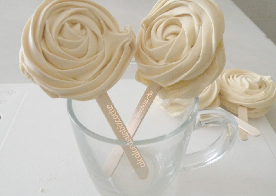 Rose Meringue Pops